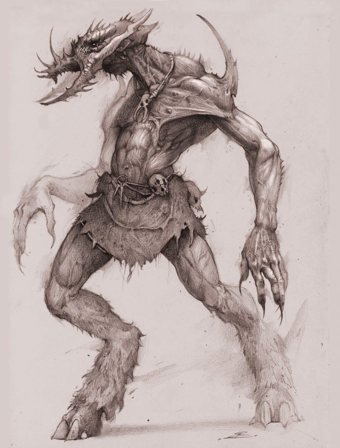bobby rebholz creature concept art sketch galthazier