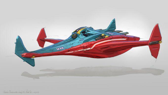 michal kus kestrel Race Craft Sketches concept art 02