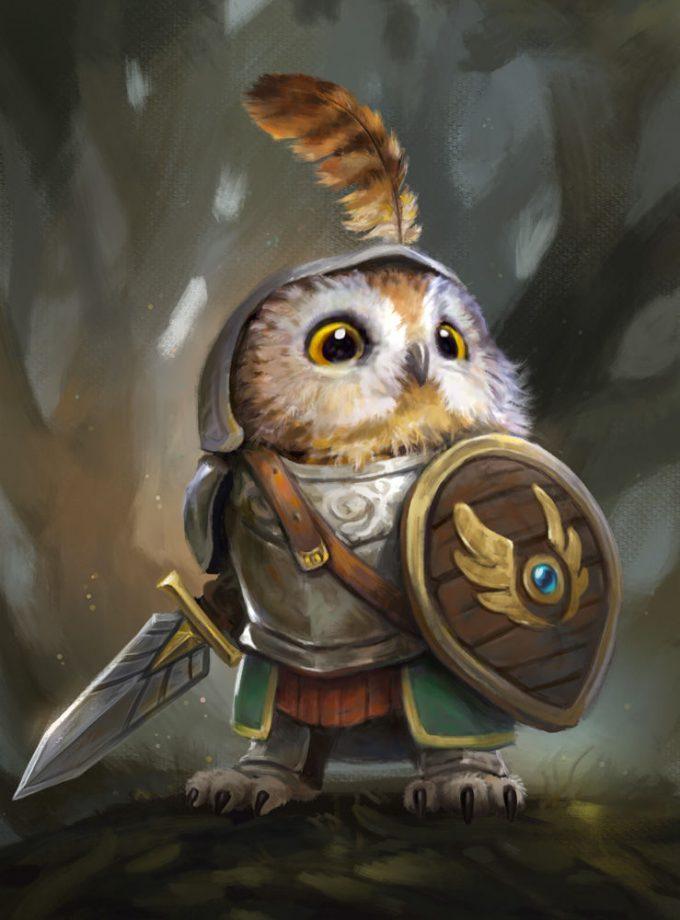 Leesha Hannigan Knight Owl Artwork