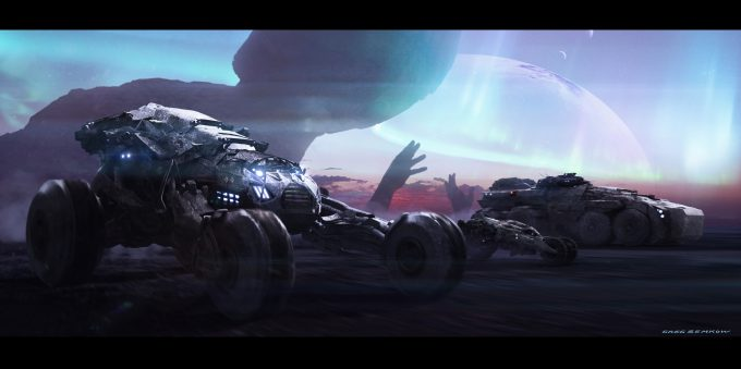 greg semkow concept art falconers vehicles