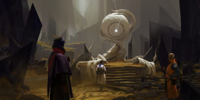 ryan gitter concept artist illustration desert shrine 002