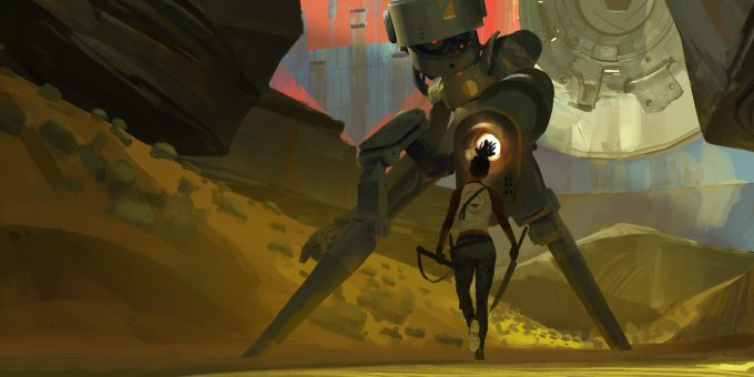 ryan gitter concept artist illustration girl vs robot 001