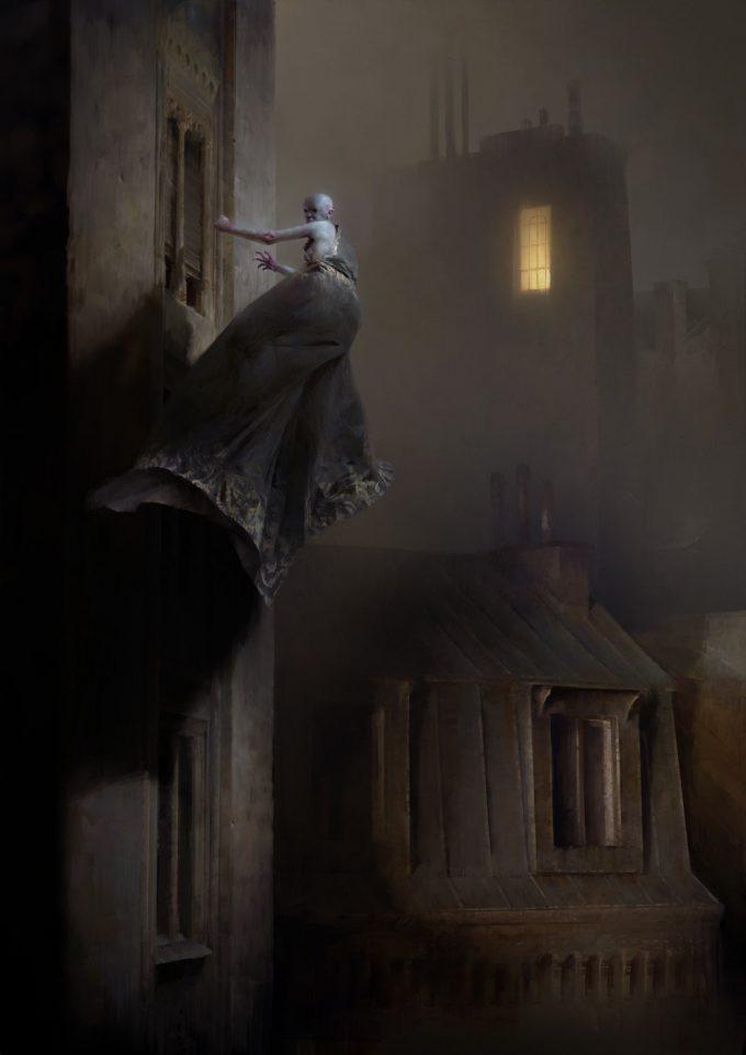 Dishonored 2 Serkonan Legends Paintings piotr jablonski knocker at the window serkonan legends s