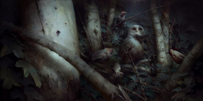 Dishonored 2 Serkonan Legends Paintings piotr jablonski serkonan night birds with owl 2s