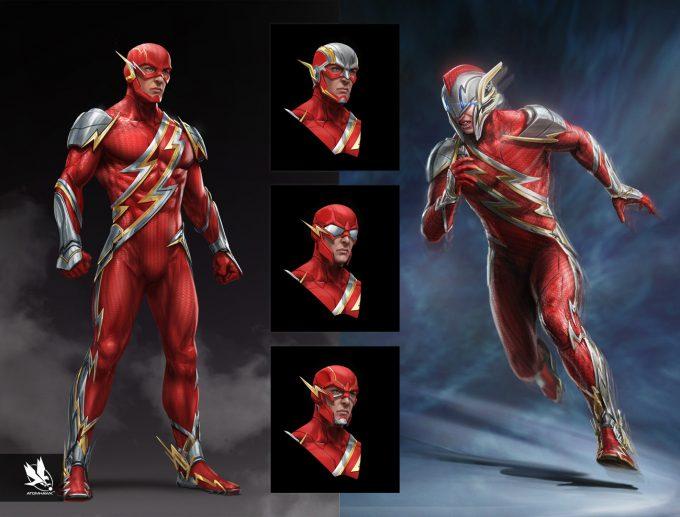 Injustice 2 Concept Art Atomhawk Design Pachinko The Flash
