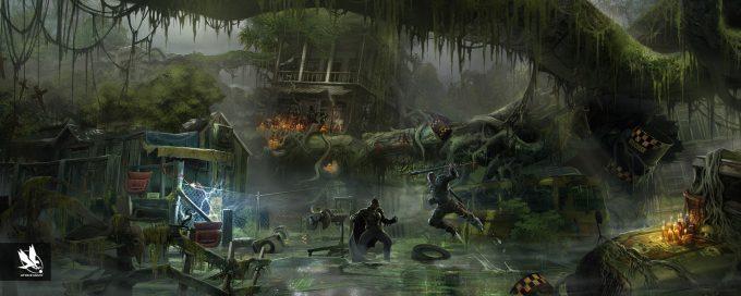 Injustice 2 Concept Art Atomhawk Design Swamp Thing Swamp Environment 01