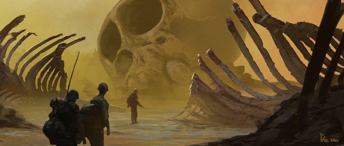 Kong Skull Island Concept Art Eddie Del Rio Boneyard 01