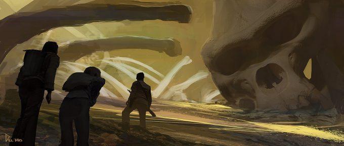 Kong Skull Island Concept Art Eddie Del Rio bone yard 04