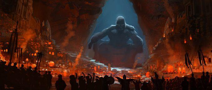 Kong Skull Island Concept Art Eddie Del Rio throne 02