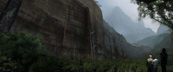 Kong Skull Island Concept Art Eddie Del Rio wall 02