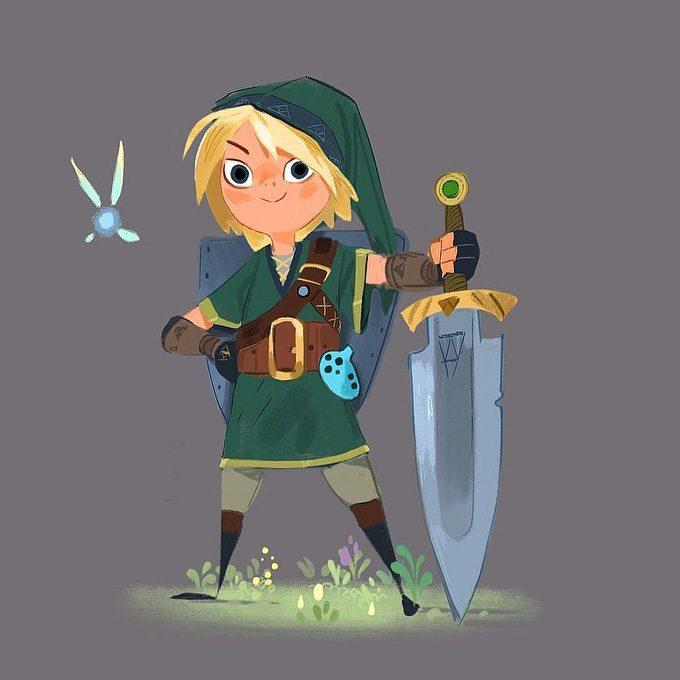 Legend-of-Zelda-Link-Fan-Art-Concept-Illustration-01-Mike-Yamada