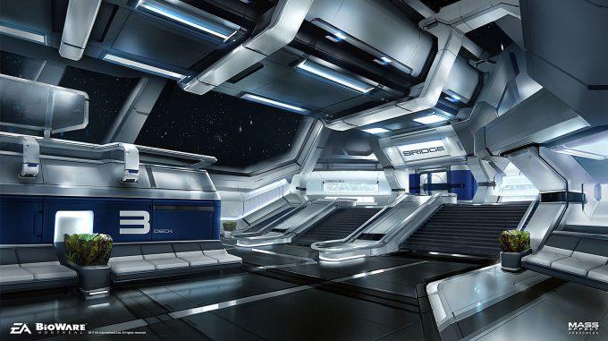 Mass Effect Andromeda Concept Art ben lo ark human atrium env