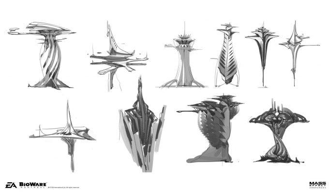 Mass Effect Andromeda Concept Art ben lo early kett04 env