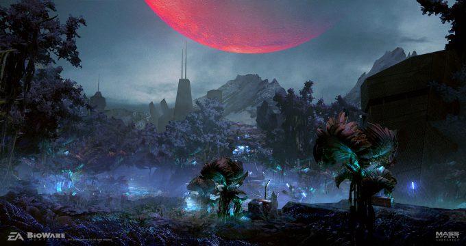 Mass Effect Andromeda Concept Art ben lo havarl01 env