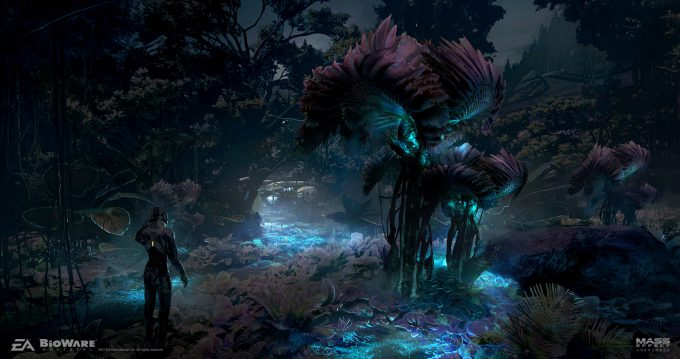 Mass Effect Andromeda Concept Art ben lo havarl02 env