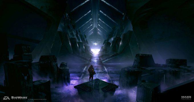Mass Effect Andromeda Concept Art ben lo m2vault aquaduct env