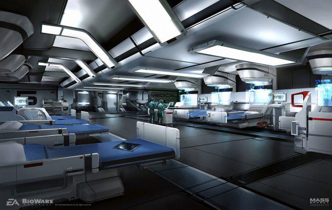 Mass Effect Andromeda Concept Art ben lo medbay env
