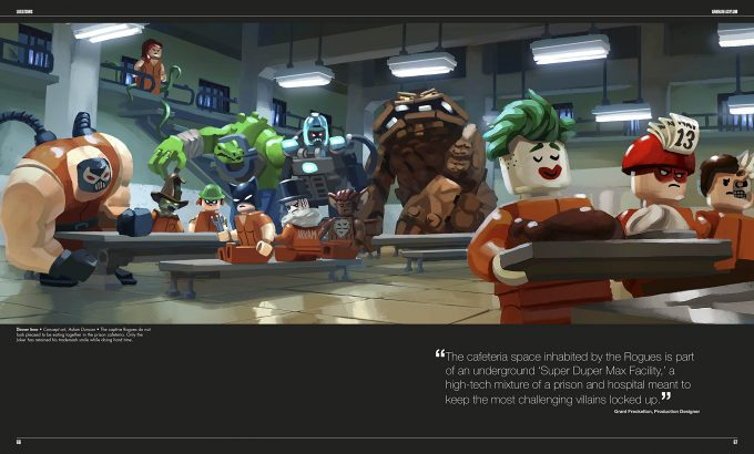 The LEGO Batman Movie The Making of the Movie Concept Art 066 067