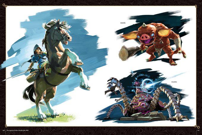 The-Legend-of-Zelda-Art-and-Artifacts-Art-Book-406-407-Breath-of-the-Wild
