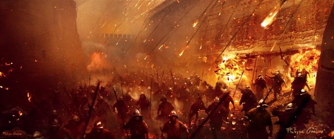 Assassins Creed Movie 2016 Concept Art PG Battle 03