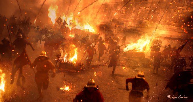 Assassins Creed Movie 2016 Concept Art PG Battle 05