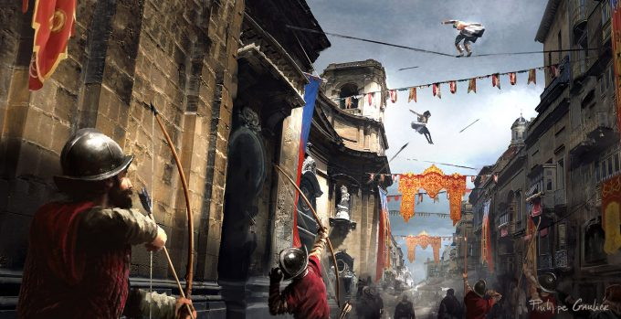 Assassins Creed Movie 2016 Concept Art PG Chase Parkour 02