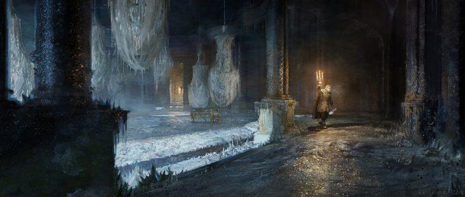 Beauty and the Beast Concept Art Disney Karlsimon Ballroom frozen L