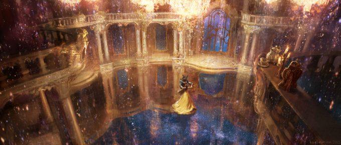 Beauty and the Beast Concept Art Disney Karlsimon Ballroom magic 02 L