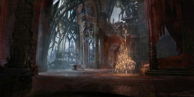 Beauty and the Beast Concept Art Disney Karlsimon Beast lair window L