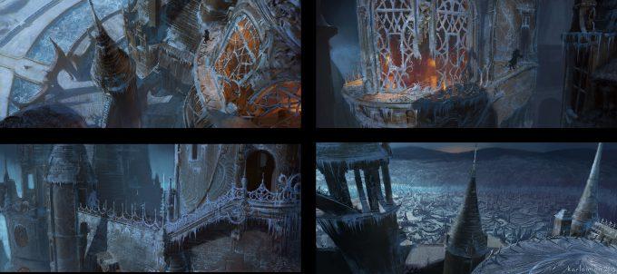Beauty and the Beast Concept Art Disney Karlsimon Beast roofclimb all L