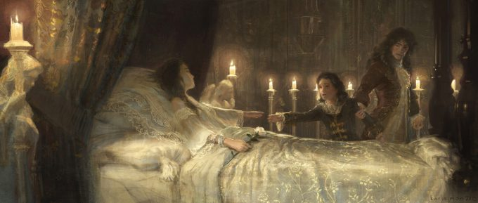 Beauty and the Beast Concept Art Disney Karlsimon Queens deathbed L