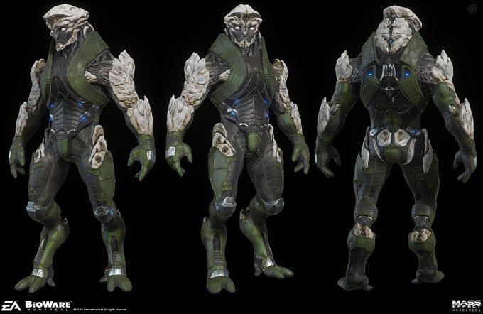 Mass Effect Andromeda Concept Art furio tedeschi char art 1