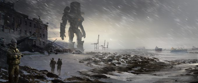 Pacific Rim Concept Art Doug Williams Russian Bot