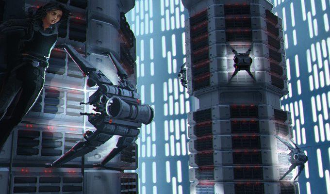 Star Wars Rogue One Concept Art Vincent Jenkins 0296 SET PentagonDataCoreTowersINT 02