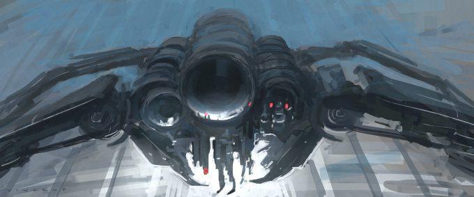 Star Wars Rogue One Concept Art Vincent Jenkins 0296 SET PentagonDataCoreTowersINT