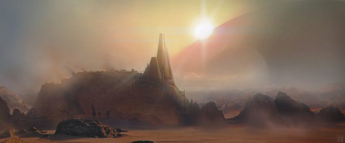 Star Wars Rogue One Concept Art Vincent Jenkins 1400 ENV OccupiedPlanetEXT 02