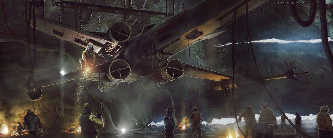Star Wars Rogue One Concept Art Vincent Jenkins 2383 SET JungleCastroEncampmentEXTINT 01