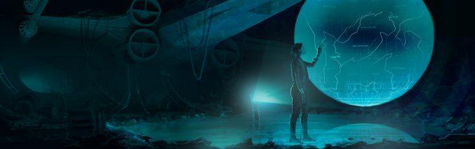 Star Wars Rogue One Concept Art Vincent Jenkins 2384 SET CastroHologramEXT 01