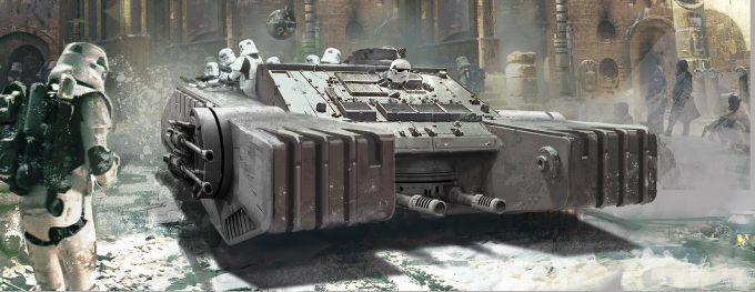 Star Wars Rogue One Concept Art Vincent Jenkins 3155 VEH CommunistHovercraft 01