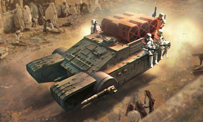 Star Wars Rogue One Concept Art Vincent Jenkins 3155 VEH CommunistHovercraft 02