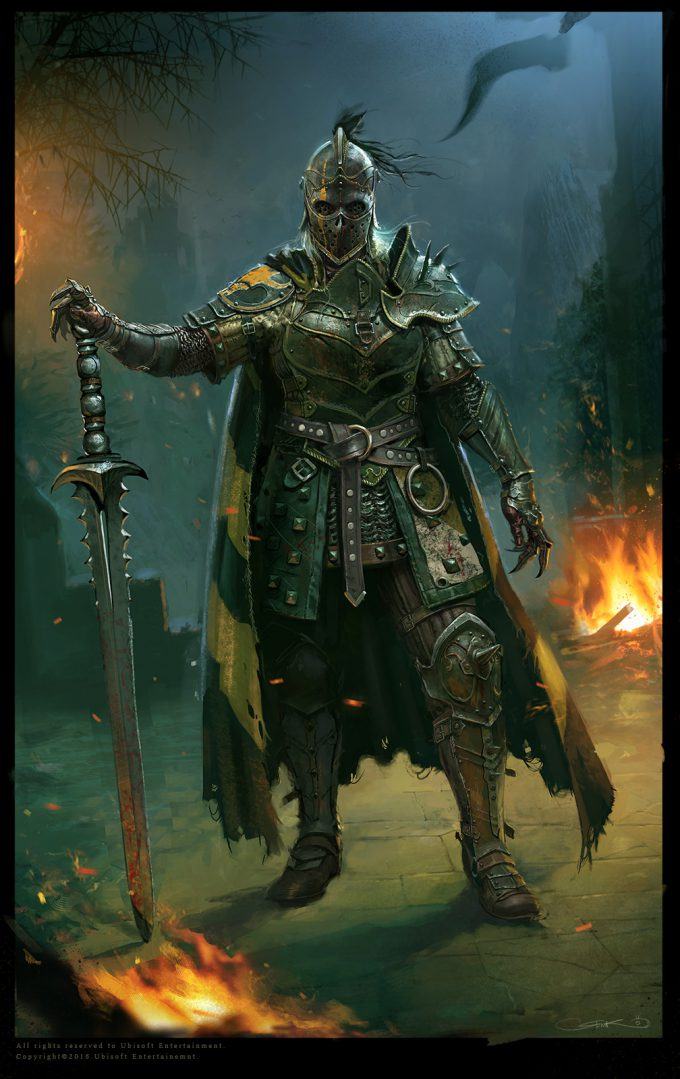 for honor game concept art remko troost apo warpaint