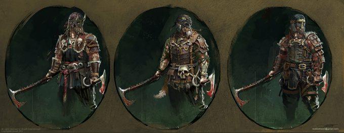 for honor game concept art remko troost berserker set