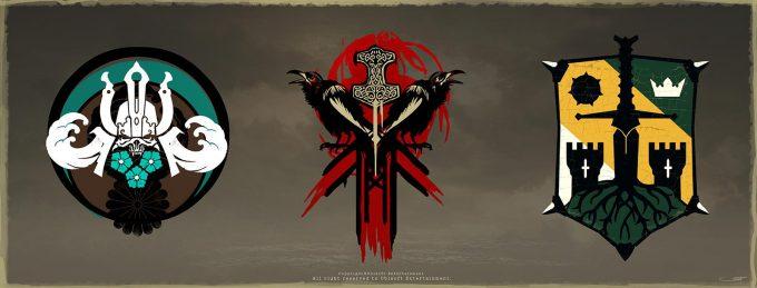 for honor game concept art remko troost faction emblems