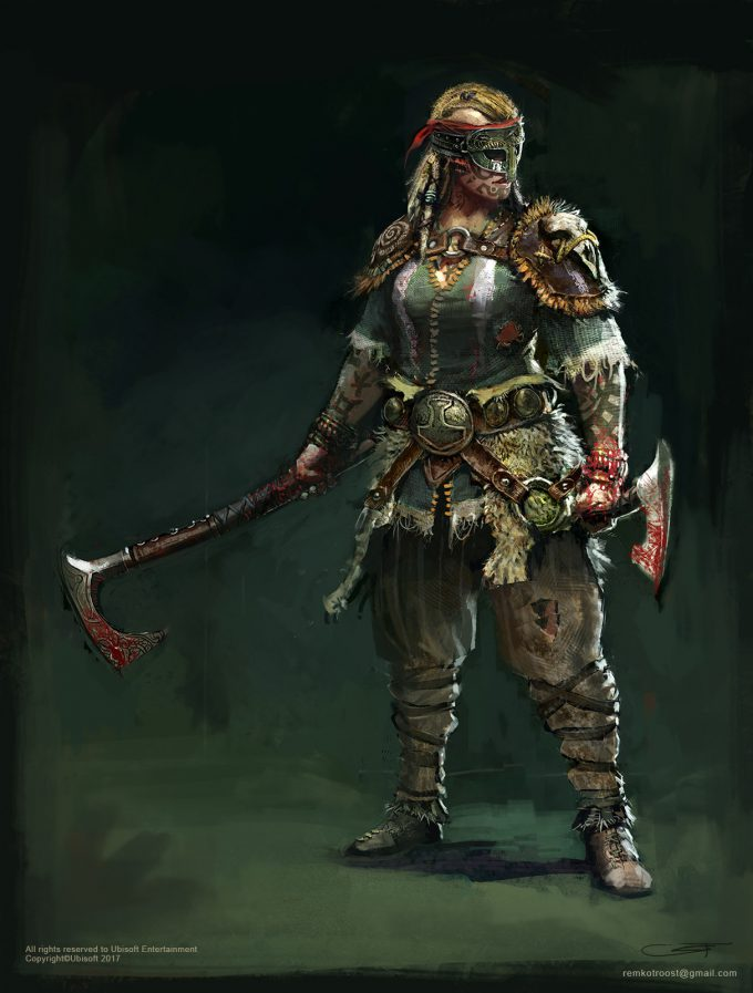 for honor game concept art remko troost lady berserkers vld