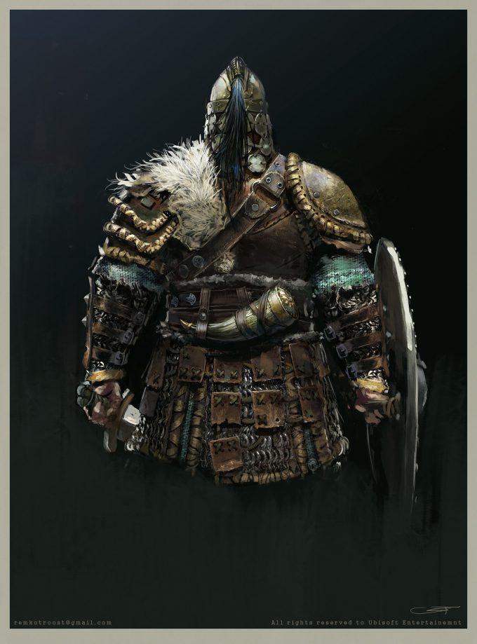 for honor game concept art remko troost warlord back fh ubi remkotroostld