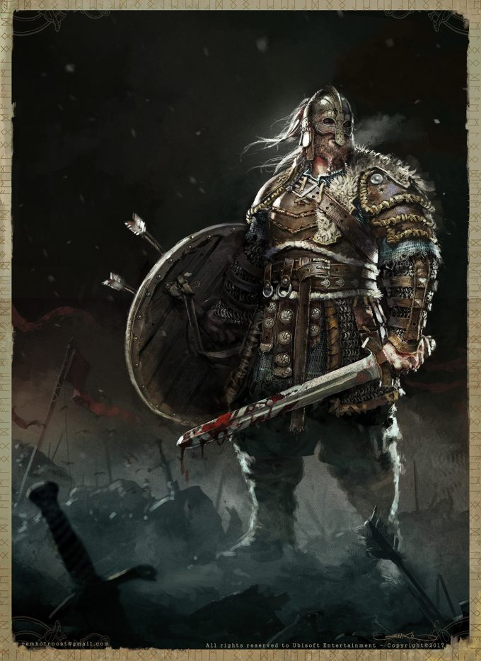 for honor game concept art remko troost warlord fh remko conceptartld