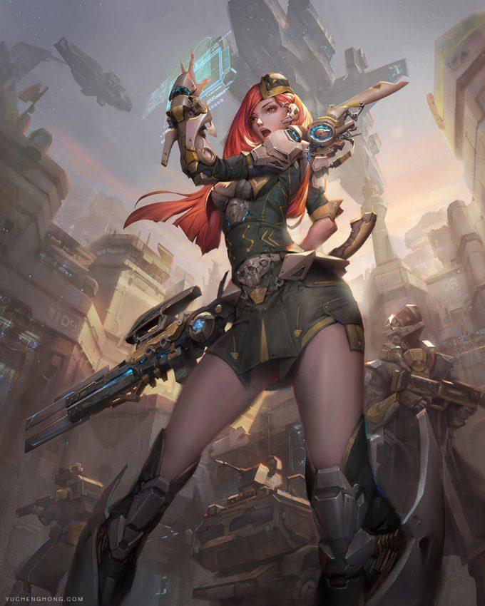 yu cheng hong illustration art 3 1 the splinteer commander