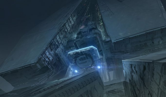 Alien 5 Concept Art Neill Blomkamp Film Project Geoffroy Thoorens Building 2