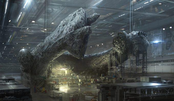 Alien 5 Concept Art Neill Blomkamp Film Project Geoffroy Thoorens Factory