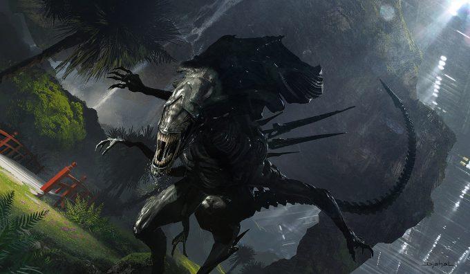 Alien 5 Concept Art Neill Blomkamp Film Project Geoffroy Thoorens Hunting